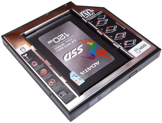 Caddy 9,5mm Adaptador Hd Ssd Sata Notebook Msi Samsung Acer