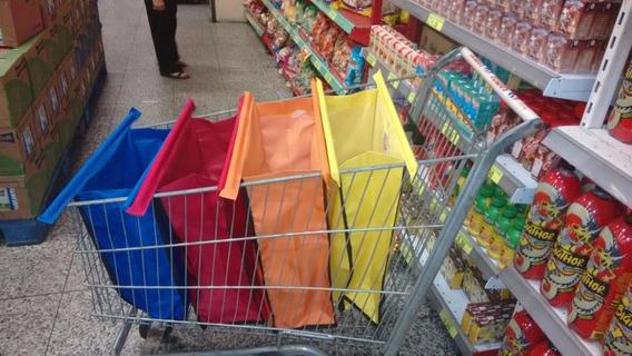 Kit 4 Bags Sacolas Supermercado Práticas, Praia E Demais!