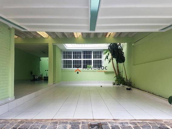 Amplo Sobrado Para Venda Ou Locação Na Vila Alpina, Com 262m² E 4 Dormitórios - Santo André - So0159