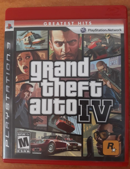 Gta Iv - Grand Theft Auto Iv - Ps3 - Mídia Física