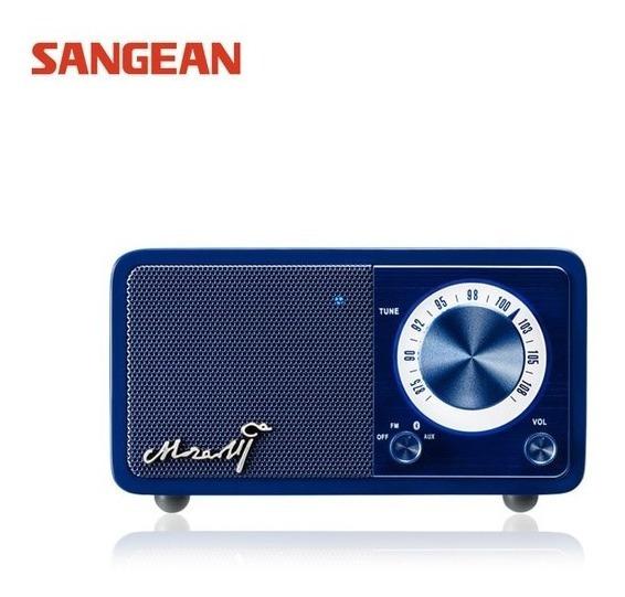 Rádio Receptor Sangean Mozart Azul Fm Bluetooth Importado