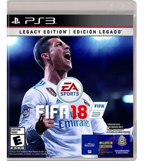 Ps3 Juego Fifa 18 Legacy Edition Para Playstation 3