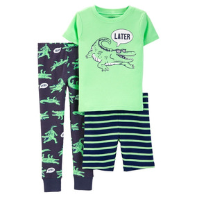 Carters Pijama 3 Piezas Niño Talla 5 Y 7 Años Nuevo Original