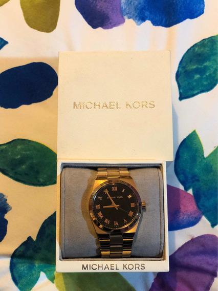 Reloj Michael Kors Dorado Con Negro