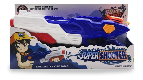 Pistola De Agua Super Shoot Xd 38 Cm Ck 0345 Full