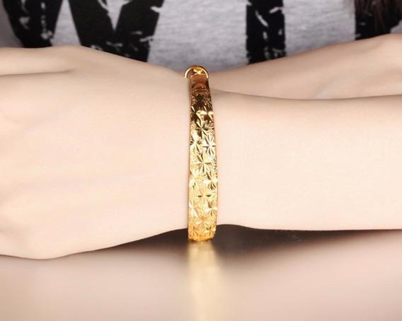 Lindo Bracelete Mulher Esposa Banho Em Ouro 18k Ajustavel