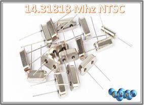 Cristal Oscilador 14.31818mhz Hc-49s Kit 10 Pcs