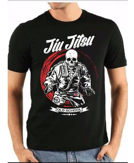 Camiseta Jiu-jitsu Casual 100% Algodão Silk Screen Urban Shirts