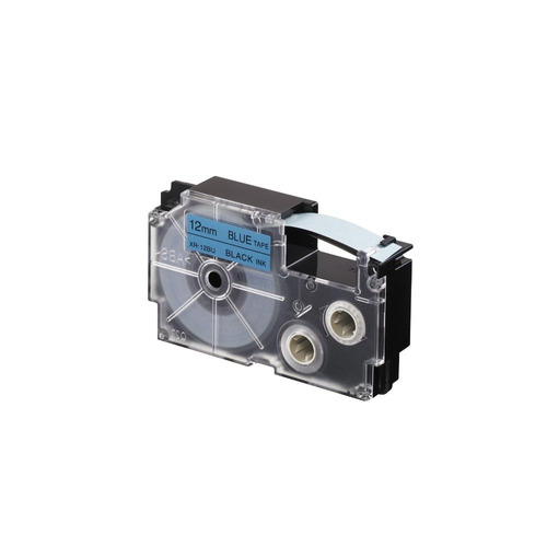 Imagen 1 de 3 de Cinta Para Rotulador Casio Xr-12bu1 12mmx8m Negro/azul