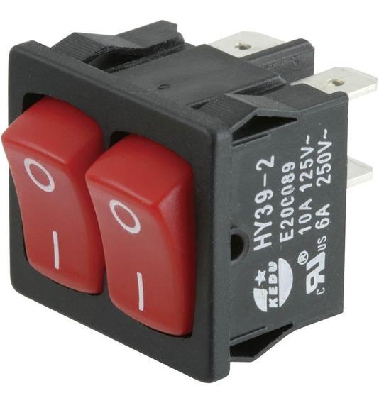 Mini Interruptor Doble Para Maquinas 125/250v 10/6a D4531