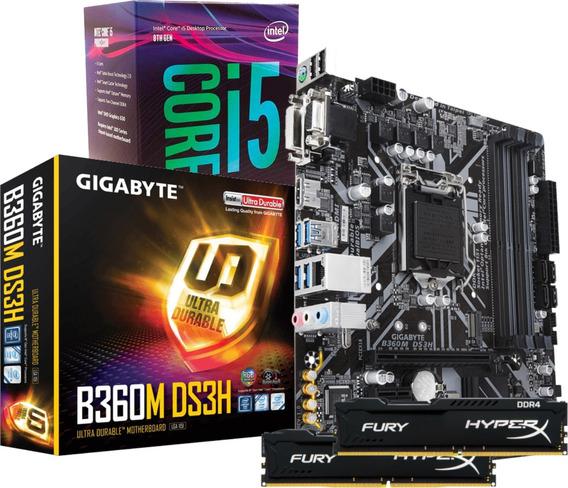 Kit Intel Core I5 8400 Gigabyte Ga B360m Ds3h 2x 4gb Fury I