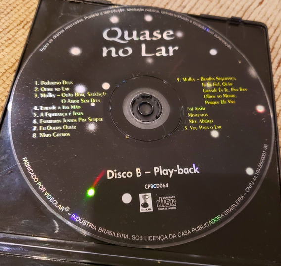 Cd Quase No Lar + Playbacks Originais + Partituras