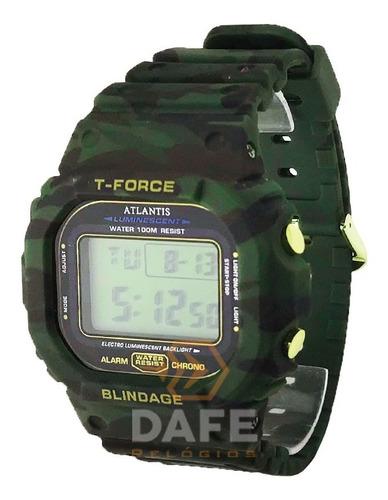 Relógio Atlantis 7305g Militar C/ Caixa E Nf