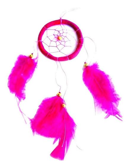 Filtro Dos Sonhos Rosa 1 Aro Decoração Proteção 25cm
