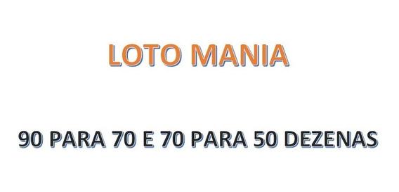 Lotomania 90 Para 70 E 70 Para 50