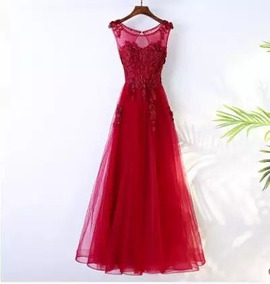 Vestido Fiestaazul Rojo Talla Extra Envio Gratis E-1116002
