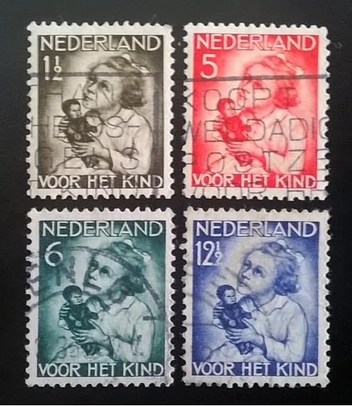 Holanda, Serie Yv. 268-271 Infancia 1934 Usada L11052