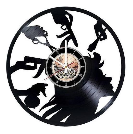 Relógio D Parede, Salão De Beleza ,decoração, Disco Vinil
