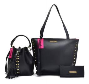 Bolsa Karina Rosa Shopper + Tira Color + Carteira