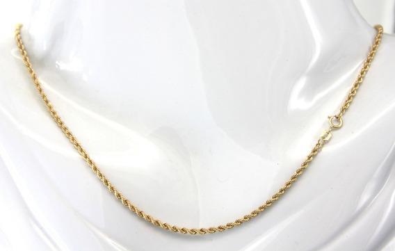 Corrente Cordão Elo Baiano Em Ouro Amarelo 750 45cm D787