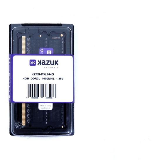 Memória Notebook Kazuk 4gb 1600 Mhz Ddr3l Ram Kzrn-d3l164g