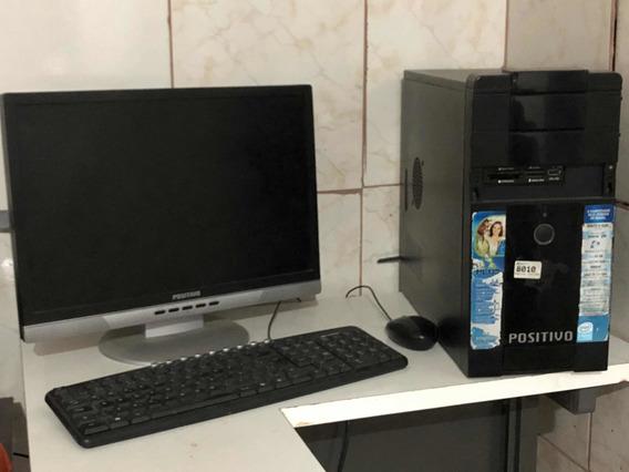 Computador Positivo Completo Cpu, Tela Lcd Saída De Som