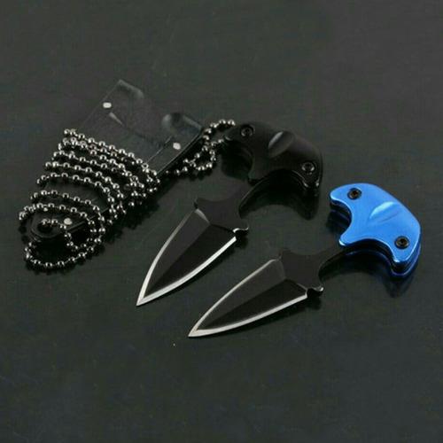 Mini Cuchillo Navaja Collar Táctico Militar Defensa Personal
