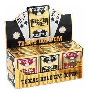 Caixa 12 Baralho Plastico Copag Texas Holdem Poker Naipe G