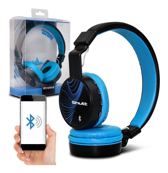 Fone De Ouvido Headphone Wave Wireless P2 Azul Claro Shutt