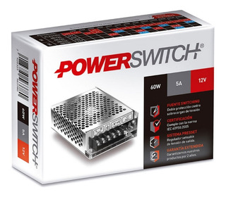 Fuente Switching Powerswitch 110-220 / 12 V 5a. Arealed