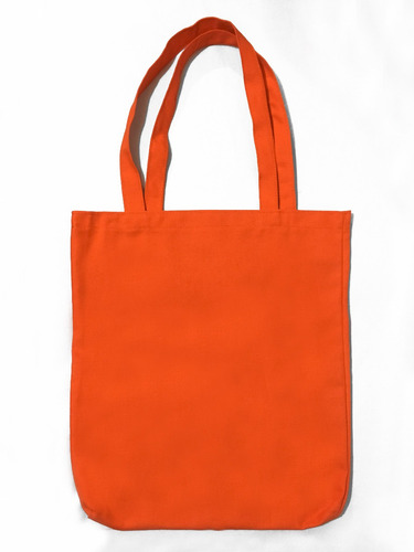 Imagen 1 de 1 de Bolsa De Manta Tote Bag Naranja Anaranjada Moda Ecologica