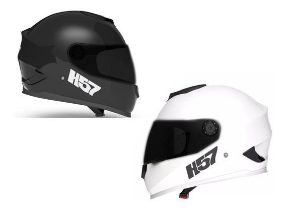 Casco Motos Hombre Mujer Halcon H57 Con Visor Negro Repuesto