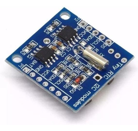 Módulo Relógio Rtc Ds1307 E At24c32 Arduino I2c Com Bateria