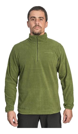 Abrigo Com Gola Trilhas E Rumos 4147 Fleece Verde Oliva