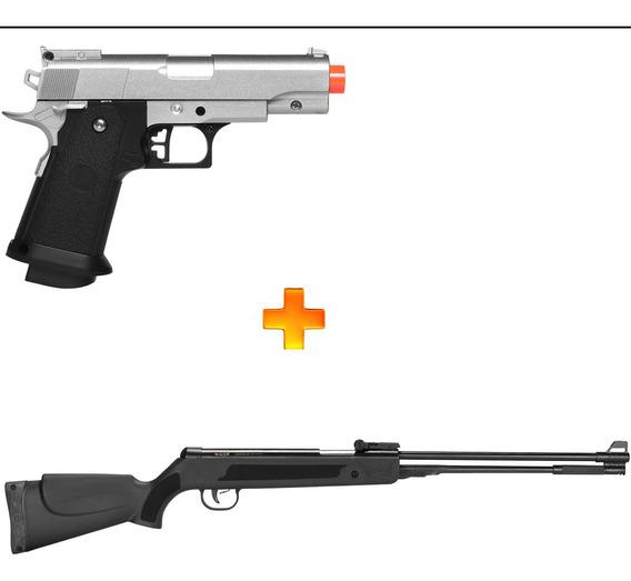 Pistola De Airsoft Spring G10s 1911+ Carabina De Pressão 5,5
