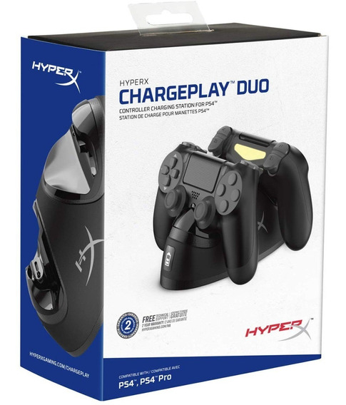 Base Cargadora Joystick Ps4 Dualshock Chargeplay Duo Hyperx