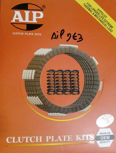 Set X 2 Disco De Embrague Aip Con Resortes Gts Gs Wcg