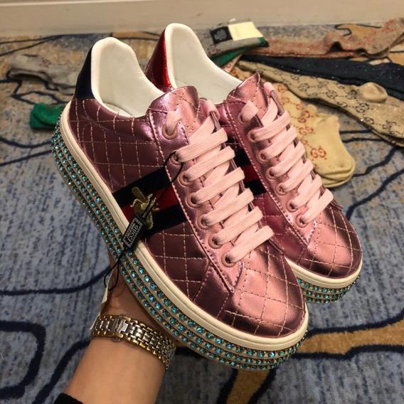 Gucci Tênis Ace Feminino - Gg001