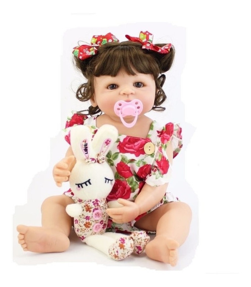 Bebe Reborn 100% Silicone Boneca Menina 55cm Princesa Linda