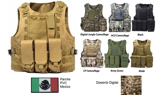 Chaleco Tactico Militar Paintball Airsoft Gotcha Policia