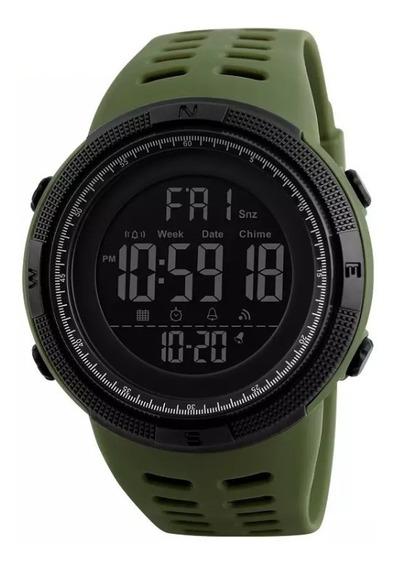 Reloj Hombre Digital Sumergible 50 Mts Tactico Militar