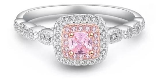Anillo Tiffany Oro Blanco Y Rosa