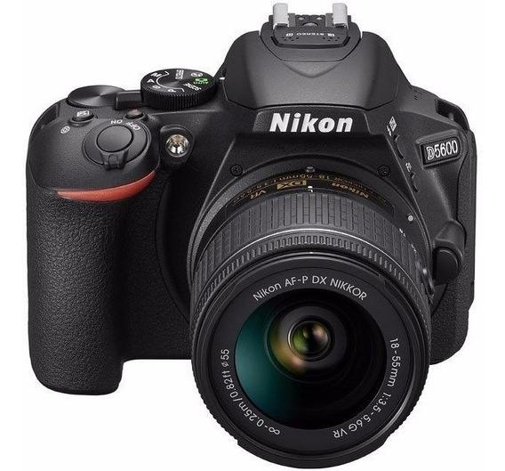 Nikon D5600+af-p Dx 18-55mm +64gb+bolsa+tripé S\j