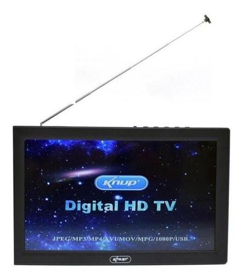 Tv Digital Portátil 9 Polegadas Hd Knup Kp-md005 Usb Hdm