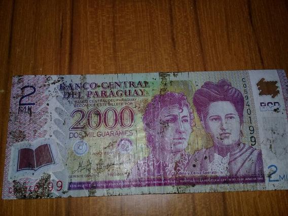 Billete De 2000 Guaranies