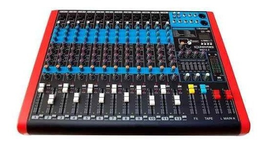 Mesa De Som Ms124 12 Ch Mono Xlr/p10 Balanceados Soundvoice