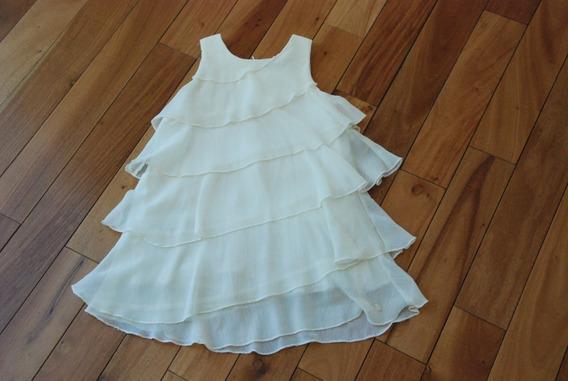 Vestido Color Crema. Marca Akiabara. Nenas
