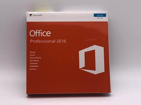 Office Professional 2016 Fpp Box Lacrado Original