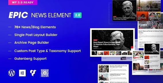 Epic News Elements - News Magazine Blog Element & Blog Add