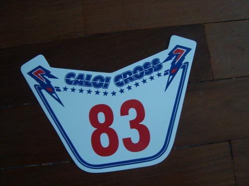 Caloi Cross Extra Light Nylon  83  Number Plate Placa